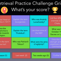 Retrieval Practise Grids